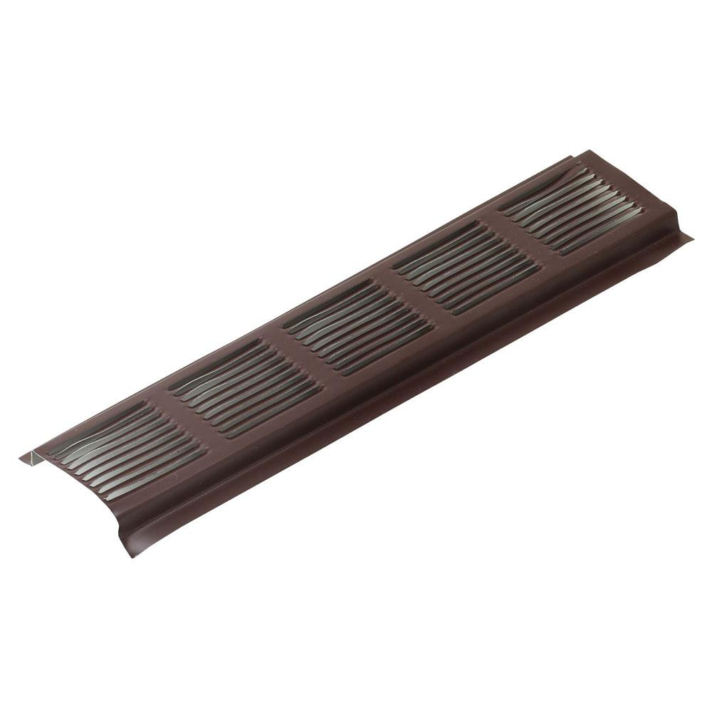 Brown Aluminum Continuous Vent Soffit 84304   The Home Depot. Air Vent 2 75 in  x 96 in  Brown Aluminum Continuous Vent Soffit