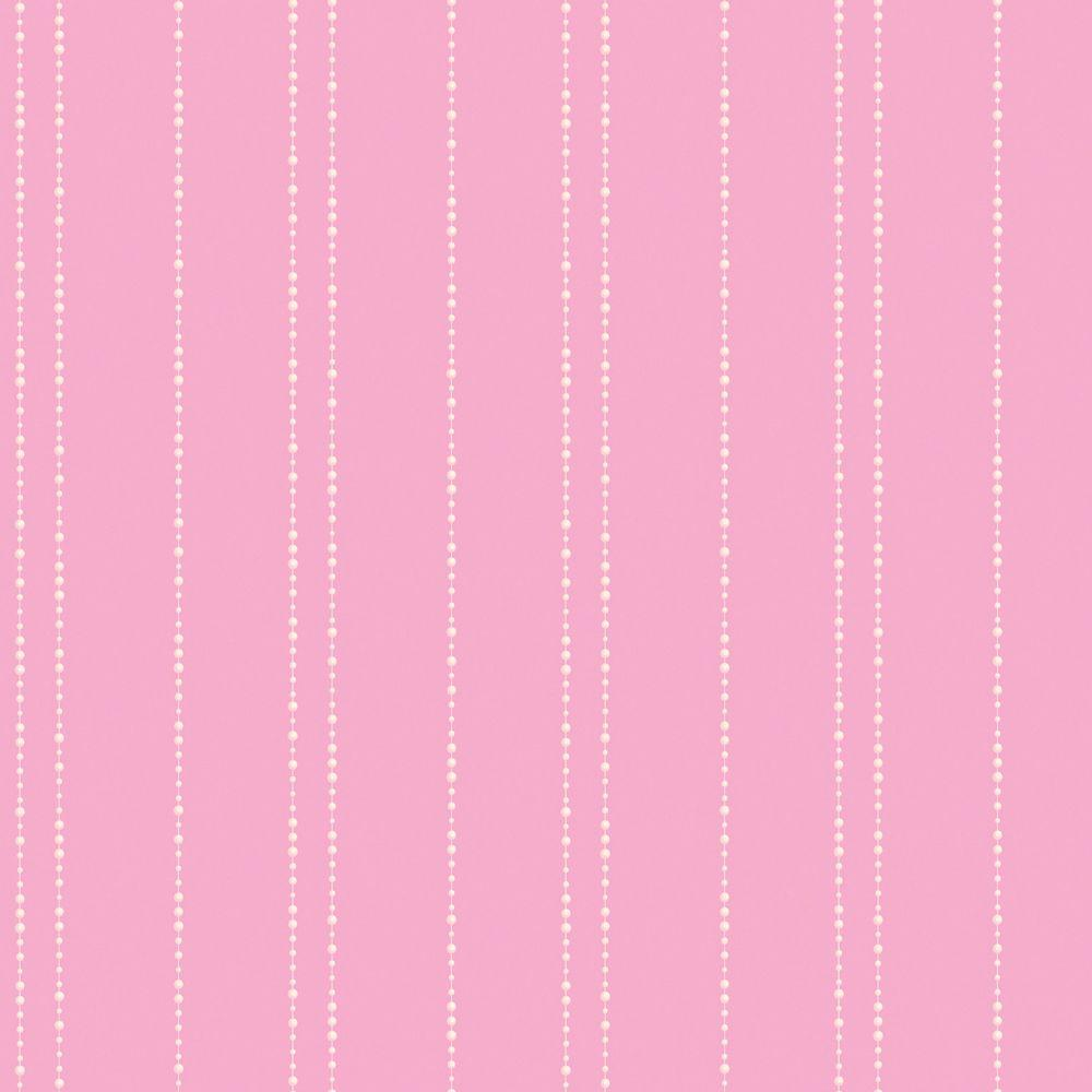 Disney 8 in. x 10 in. Pink Pastel Pearl Stripe Wallpaper Sample-DISCONTINUED