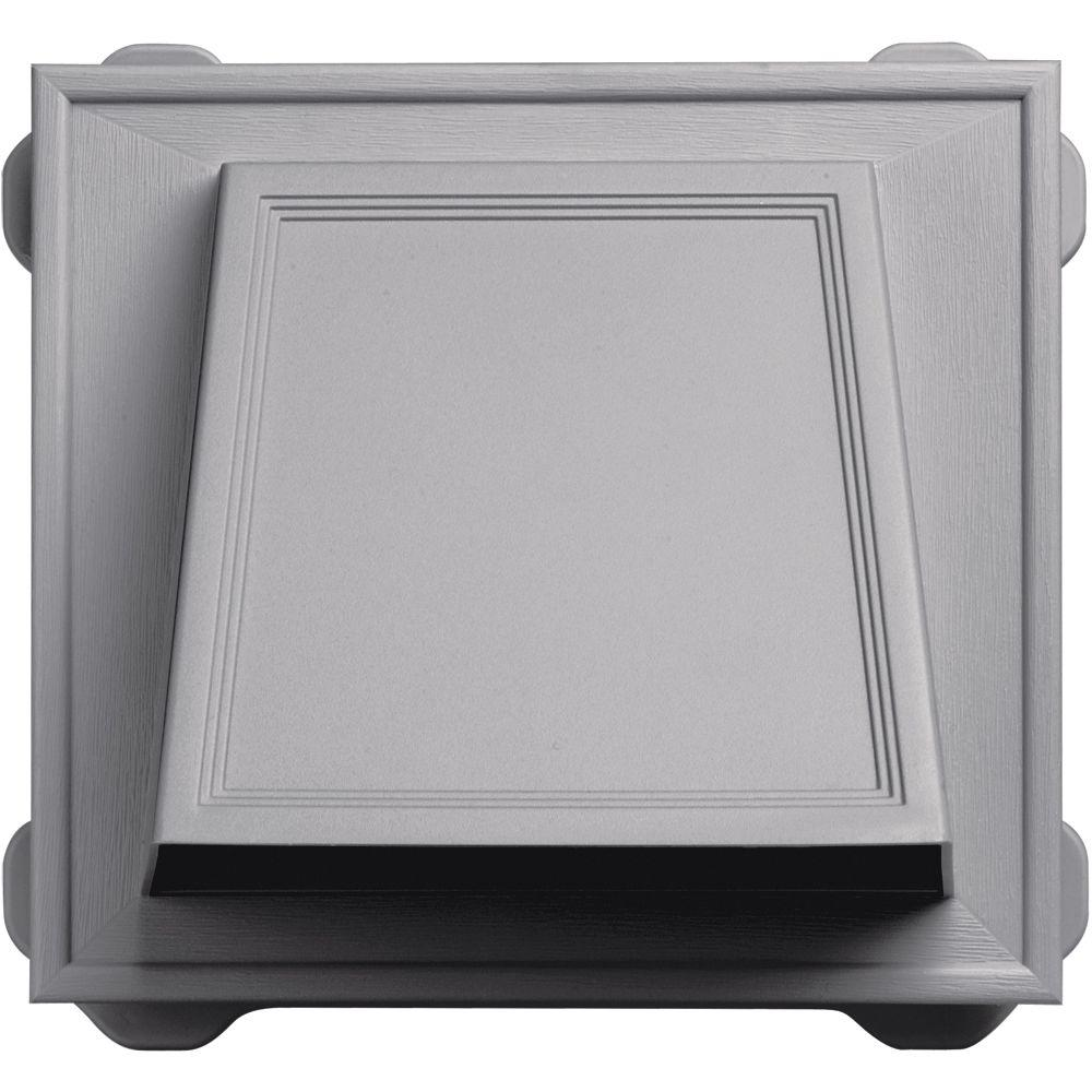 Builders Edge 6 in. Hooded Siding Vent #016-Gray
