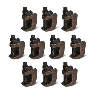 Wide Mouth Beam Clamp for 3/8 in. Threaded Rod in Uncoated Steel (10-Pack)