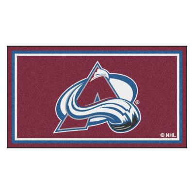NHL - Colorado Avalanche 3 ft. x 5 ft. Ultra Plush Area Rug