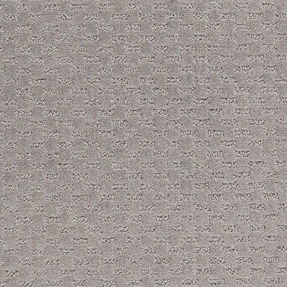 Quiet Reflection - Color Grey Flannel Pattern 12 ft. Carpet