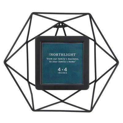 Northlight 4 In X 4 In Black Hexagonal Picture Frame For All Occasions New Year S Etc 33906229 The Home Depot