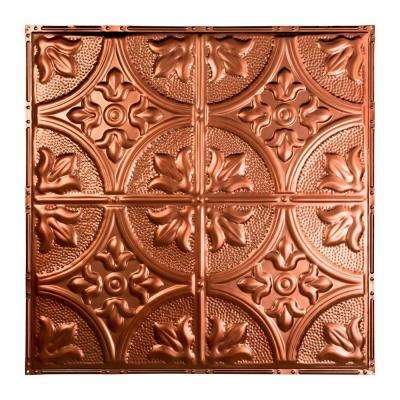Jamestown 2 ft. x 2 ft. Nail-up Tin Ceiling Tile in Vintage Bronze