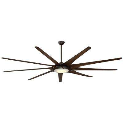 Ninety-Nine 99 in. Integrated LED Indoor Oil Rubbed Bronze Ceiling Fan with Light with Remote Control