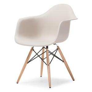 2 Baxton Studio Pascal Beige Plastic Chairs