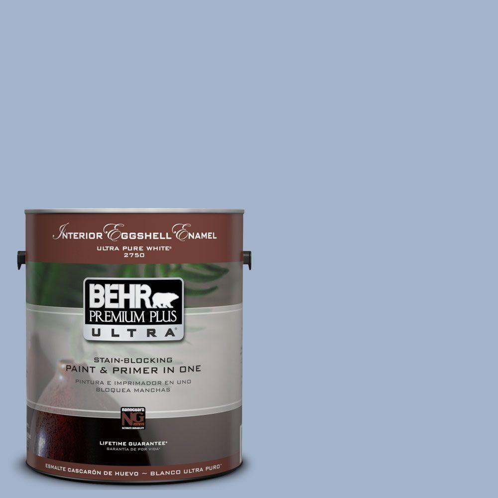 BEHR Premium Plus Ultra 1-Gal. #UL240-9 Ballroom Blue Interior Eggshell Enamel Paint