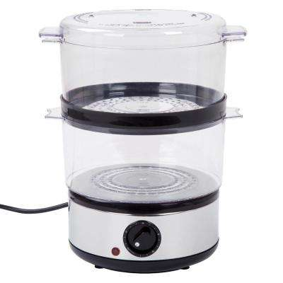 4 Qt. Chrome Food Steamer and Rice Cooker