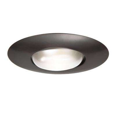 301 Series 6 in. Tuscan Bronze Recessed Ceiling Light Open Splay Trim