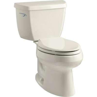 Wellworth Classic 2-piece 1.28 GPF Single Flush Elongated Toilet in Almond