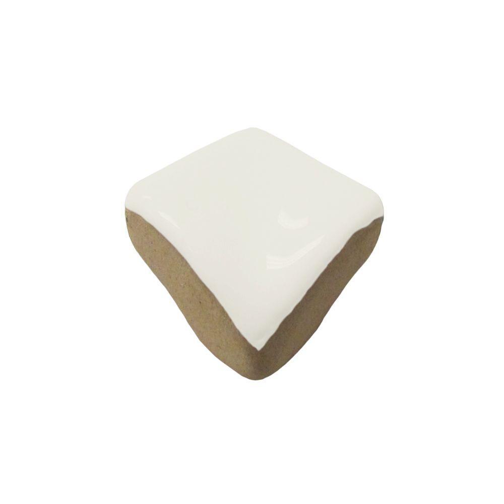U.S. Ceramic Tile Color Collection Matte Bone 3/4 in. x 3/4 in. Ceramic Quarter-Round Corner Wall Tile-DISCONTINUED