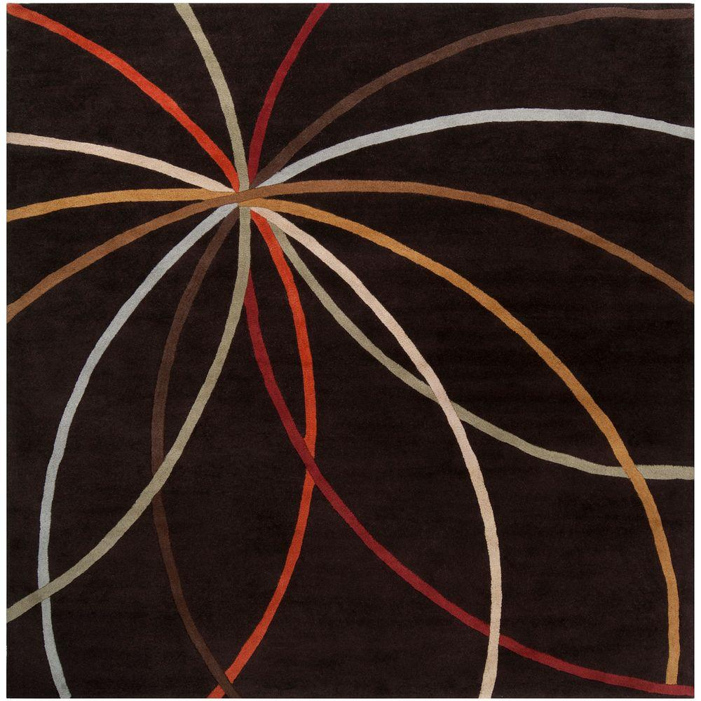 Artistic Weavers Hughson Chocolate 9 ft. 9 in. Square Area Rug