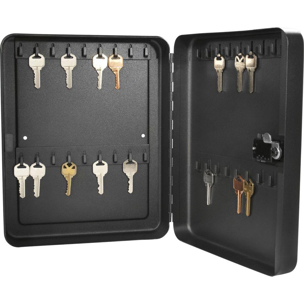 NEW 48 SOLID STEEL KEY LOCKING METAL CABINET SECURITY STORAGE SAFE CASE BOX