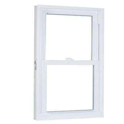 35.75 in. x 41.25 in. 70 Series Pro Double Hung White Vinyl Window with Buck Frame