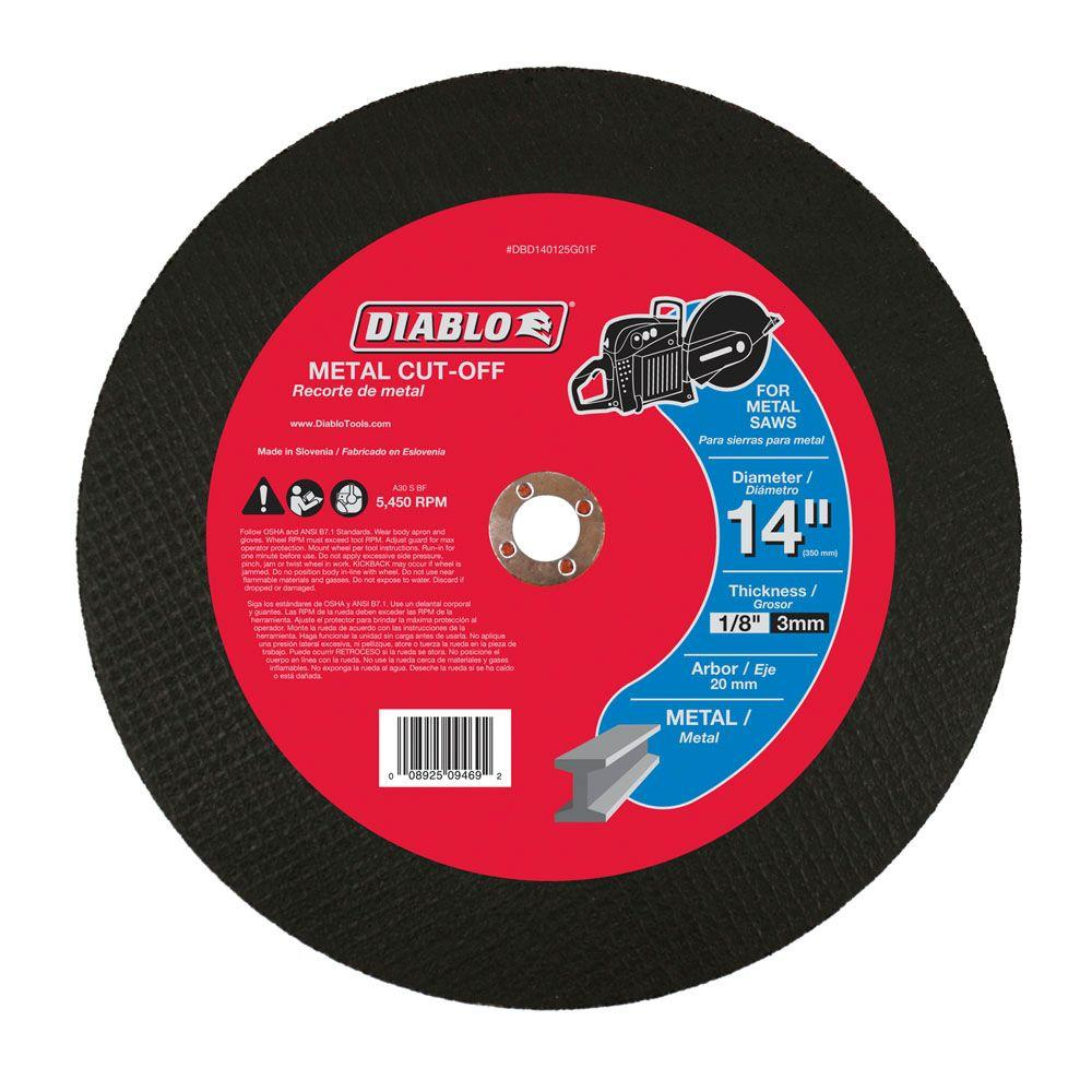 Diablo 14 in. x 1/8 in. x 20 mm Metal High Speed Cut-Off Disc