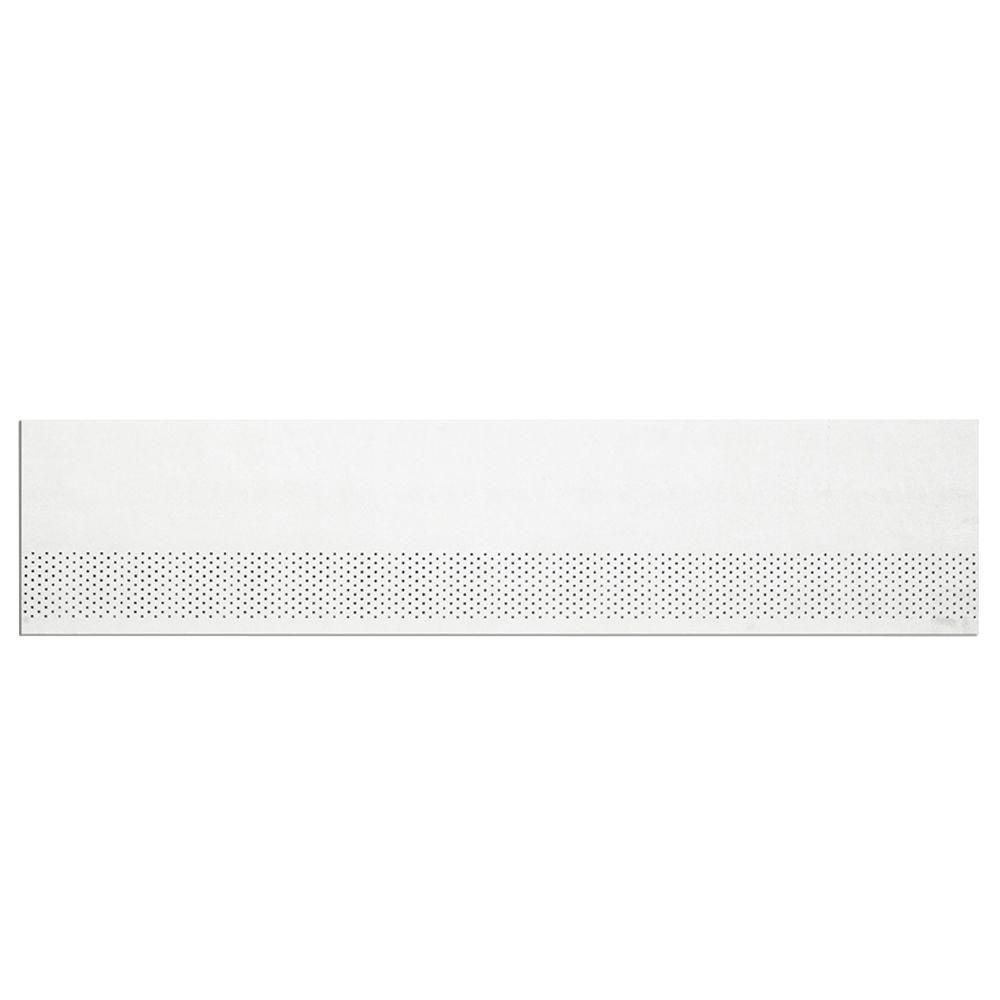 James Hardie HZ10 12 ft. White Composite Smooth Primed Vented Soffit