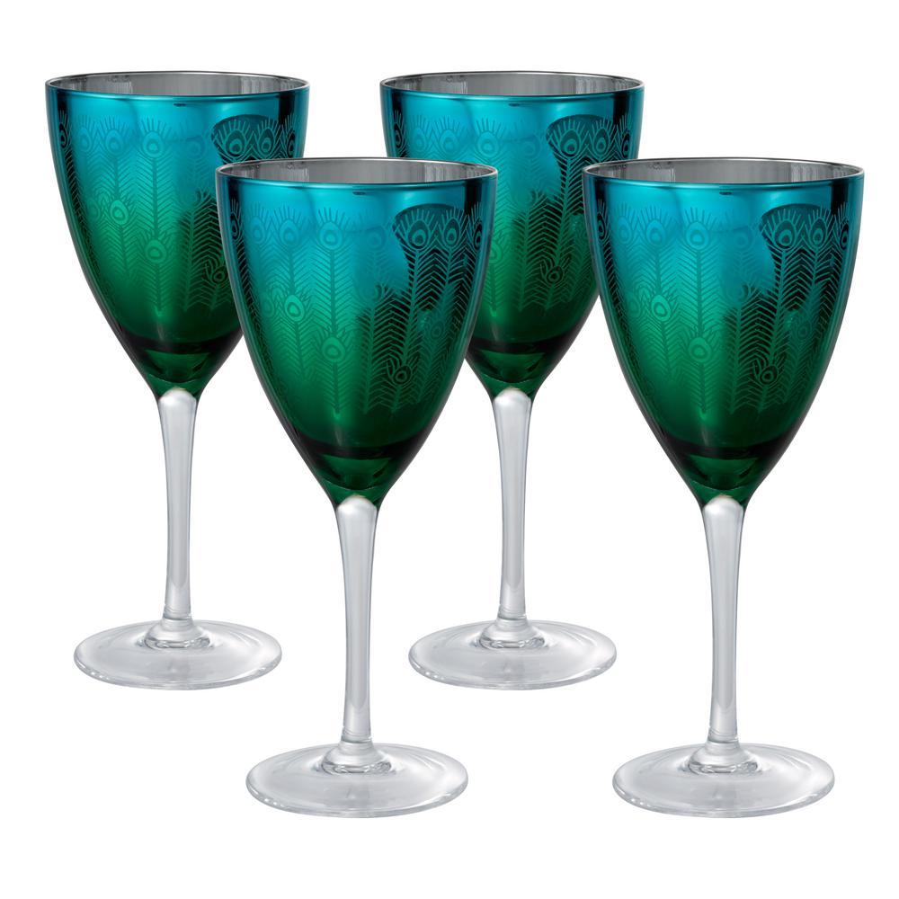 be7f76b63a4 14 oz. Wine Glass (Set of 4) 51183B - The Home Depot