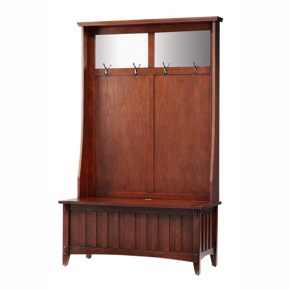 Home Decorators Collection Artisan 42.5 in. Macintosh Oak Hall Tree