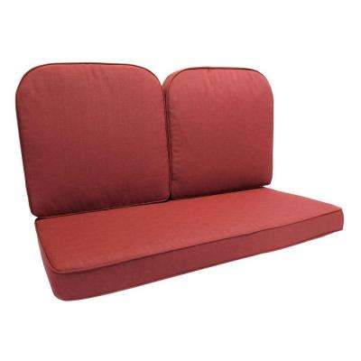 Fall River 21.5 x 21 Outdoor Glider Cushion in Standard Chili