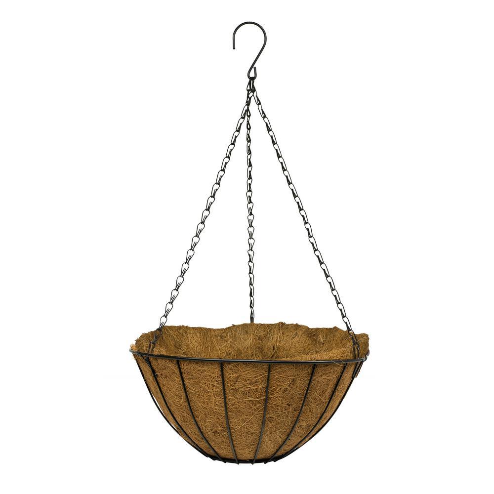 Vigoro 14 in. Metal Growers Hanging Coco Basket