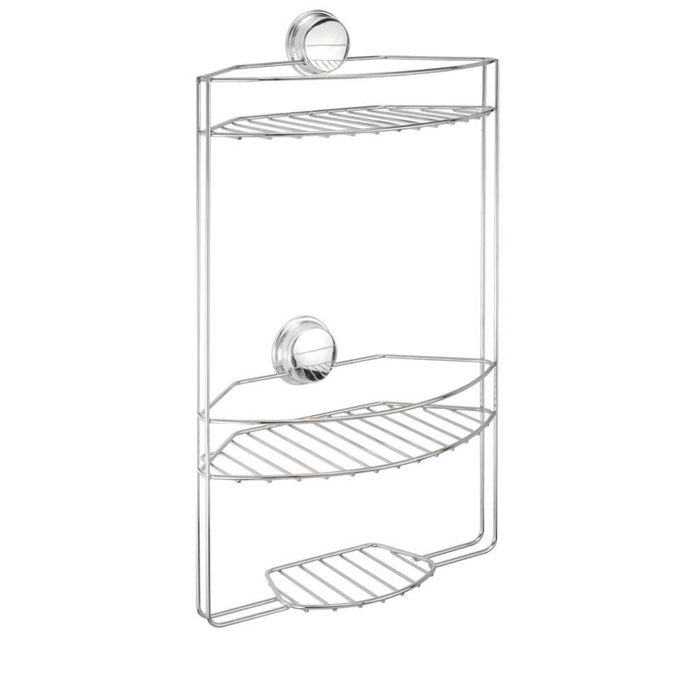 Croydex Stick 'N' Lock Plus 3 Tier Basket in Chrome by Croydex
