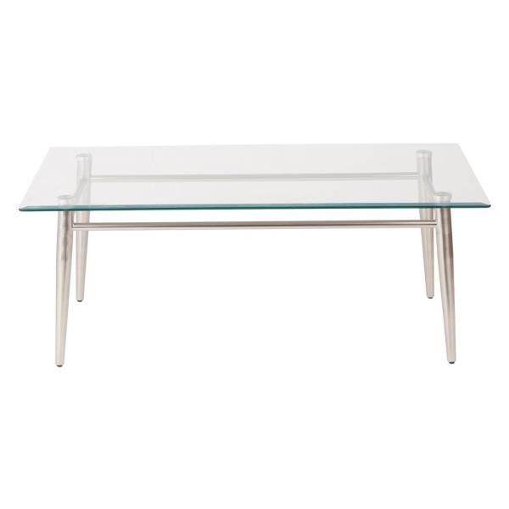 OSP Furniture MG1242S-NB Brooklyn Glass Top Coffee Table