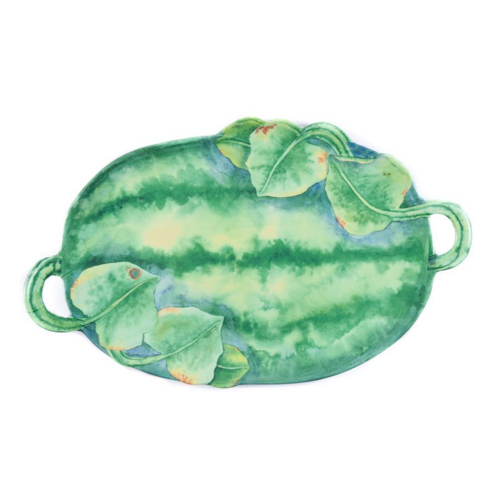 Verdura Green Melamine Watermelon Platter