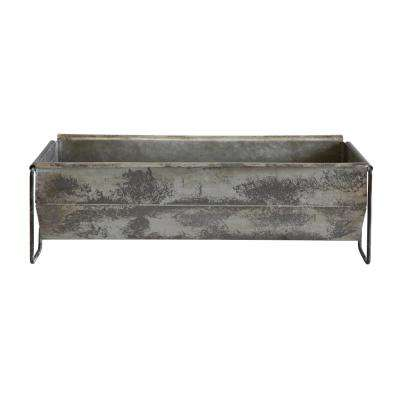 Distressed Metal Decorative Trough