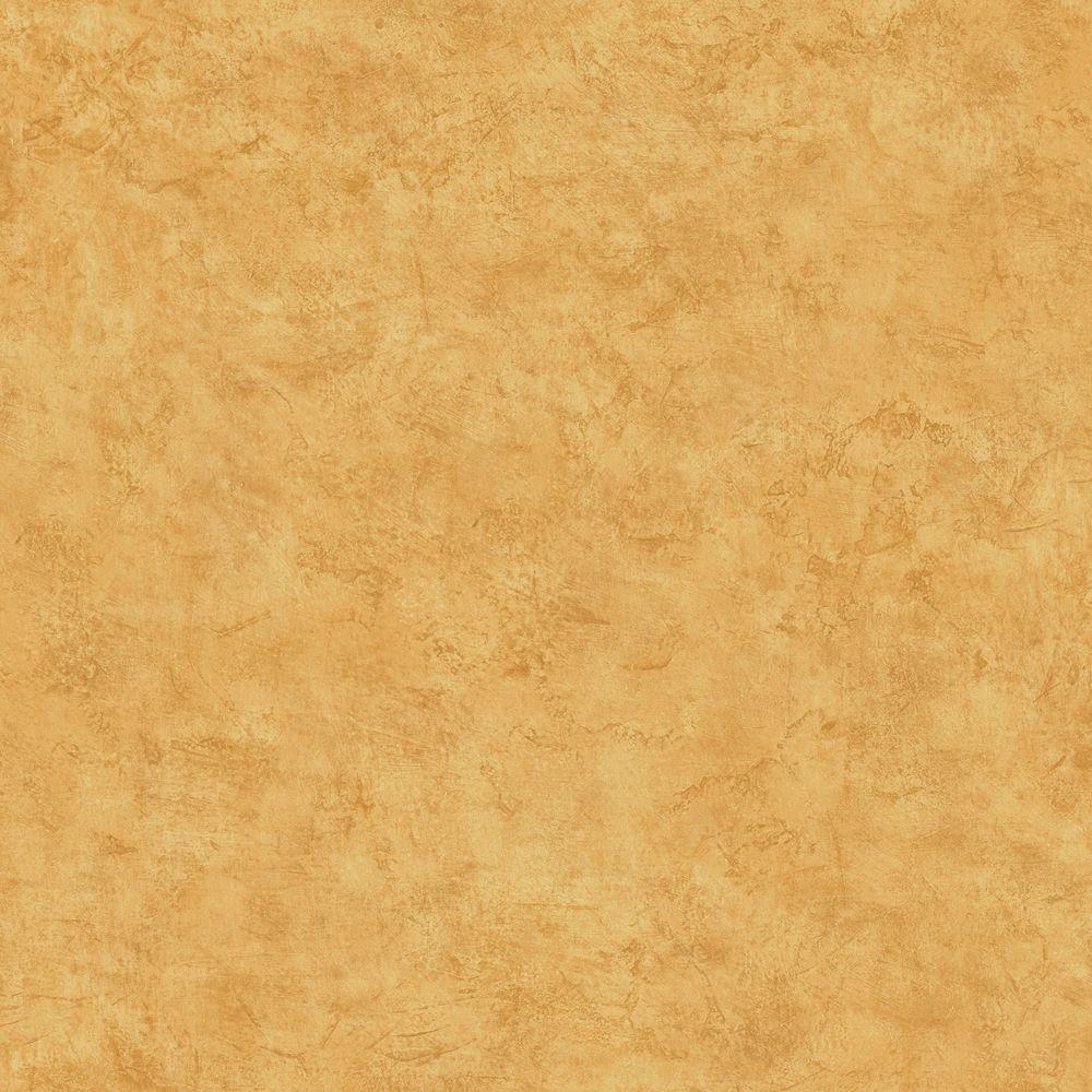 The Wallpaper Company 8 in. x 10 in. Yellow Plaster Effect Wallpaper Sample-DISCONTINUED