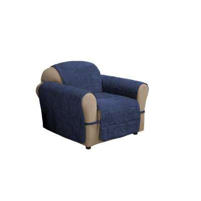 Ultimate Faux Navy Suede Chair Protector