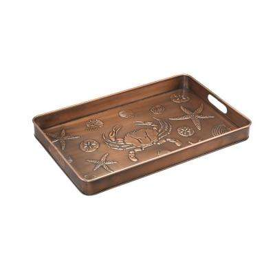 Seashore Multi-Purpose Shoe Tray for Boots, Shoes, Plants, Pet Bowls and More in Copper