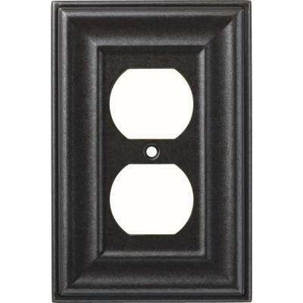 1-Gang Winslow Decorative Single Duplex, Soft Iron