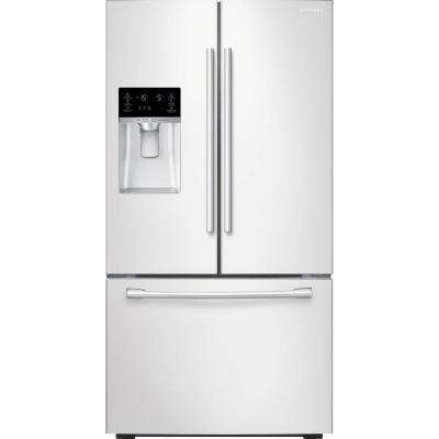 22.5 cu. ft. French Door Refrigerator in White, Counter Depth
