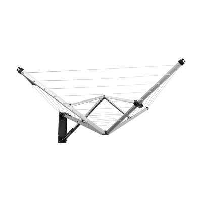 79 ft. (24m) Steel Retractable Indoor or Outdoor Clothesline Wall Mounted with Protective Storage Box