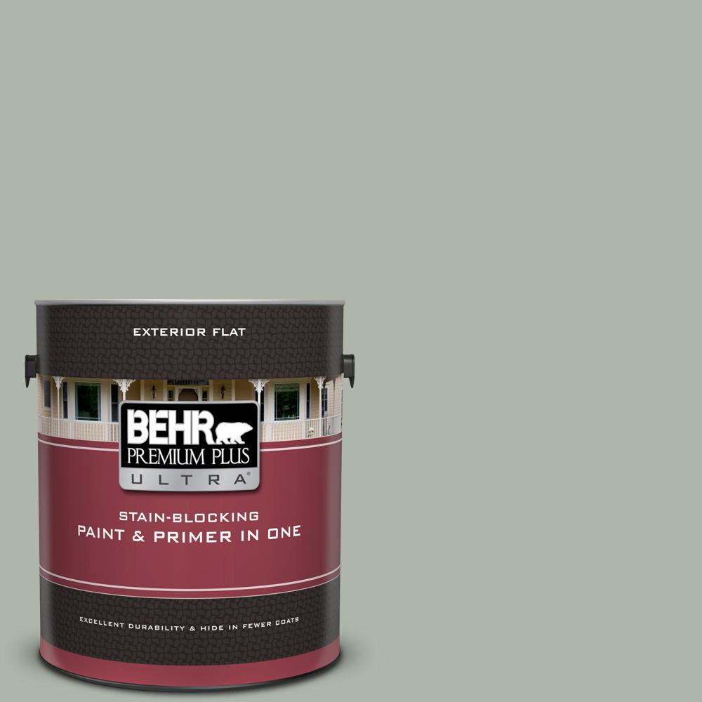 Behr Premium Plus Ultra 1 Gal Icc 56 Green Tea Flat Exterior Paint