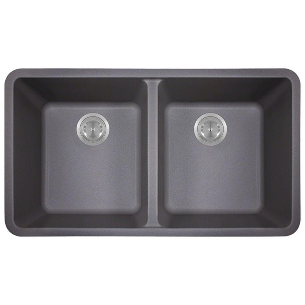 composite kitchen sinks polaris sinks undermount composite 33 in bowl 2415