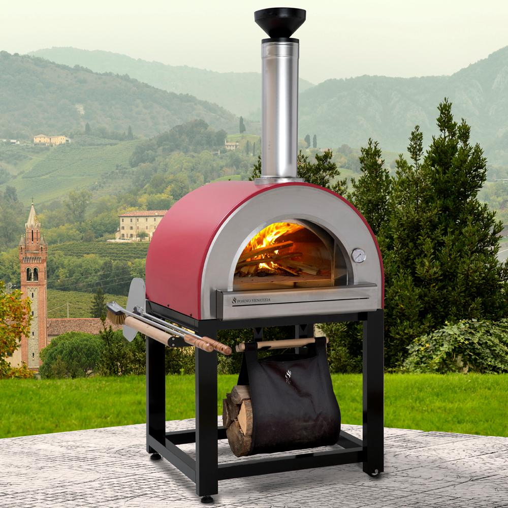 Forno Venetzia Pronto 300 20 In X 24 In Wood Burning Oven With