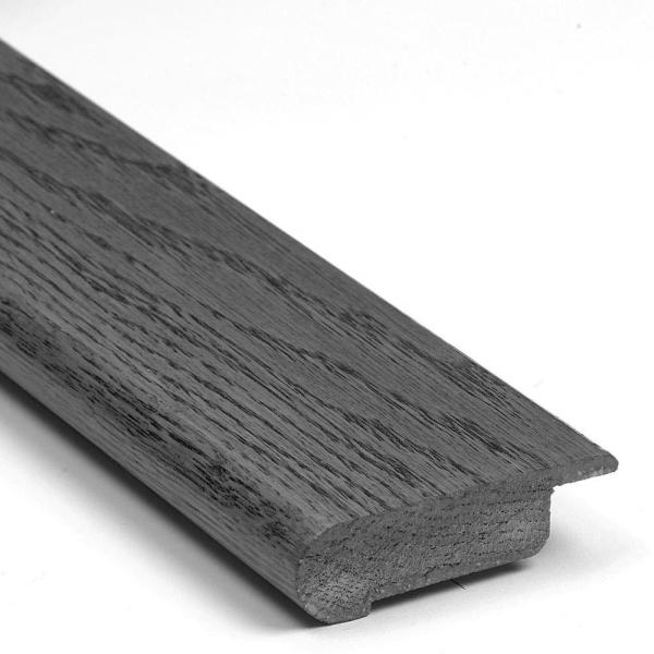Muted Gray Walnut 0.812 in. Thick x 3.125 in. Wide x 78 in. Length Overlap Stair Nose Molding