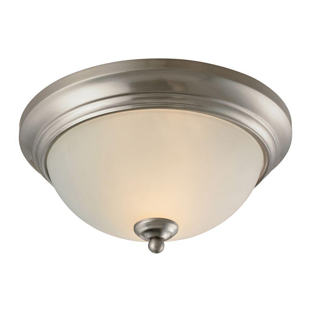 Huntington 2-Light Brushed Nickel Ceiling Flush Mount