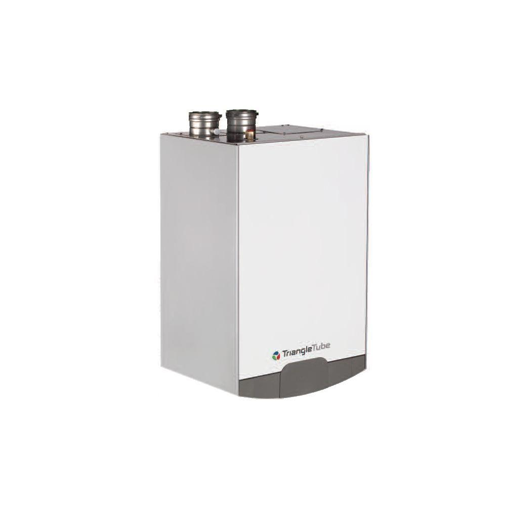 TRIANGLE TUBE Excellence 96% Natural Gas Hot Water Boiler with 30,000 to 110,000 Input BTU Modulating with 14 Gal. Indirect