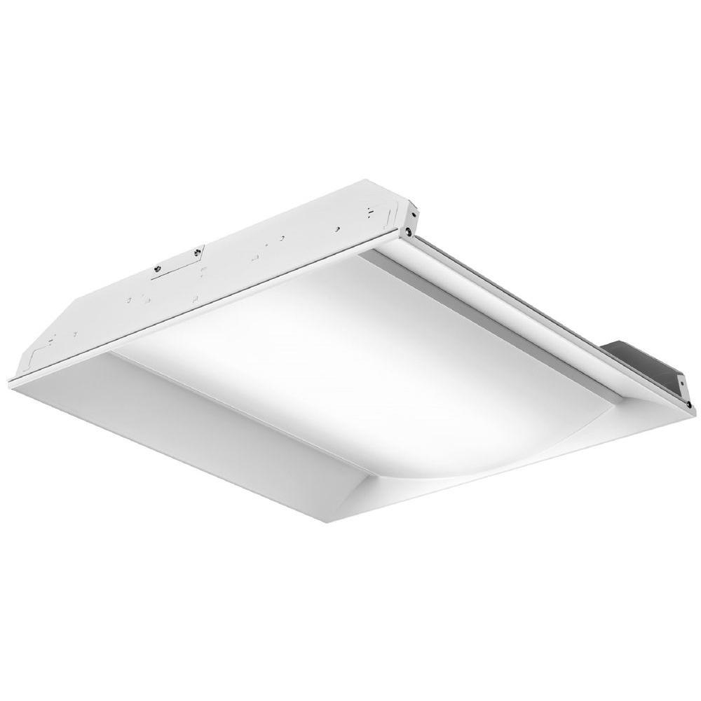 Lithonia Lighting 2 ft. White LED Architectural Troffer