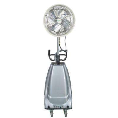 18 in. 3-Speed Portable and Oscillating High Pressure Misting Fan with 16 Gal. Water Tank