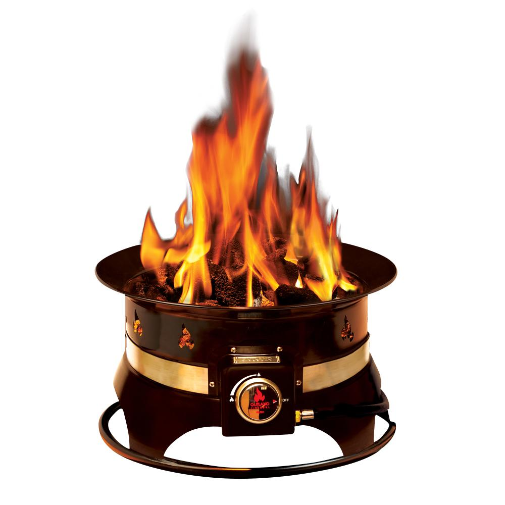 Premium 19 in. Steel Portable Propane Fire Pit with Cover and