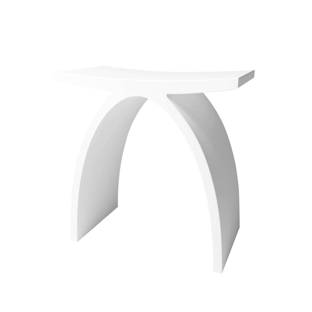 Dyconn Solid Surface Vanity Seat in Matte White