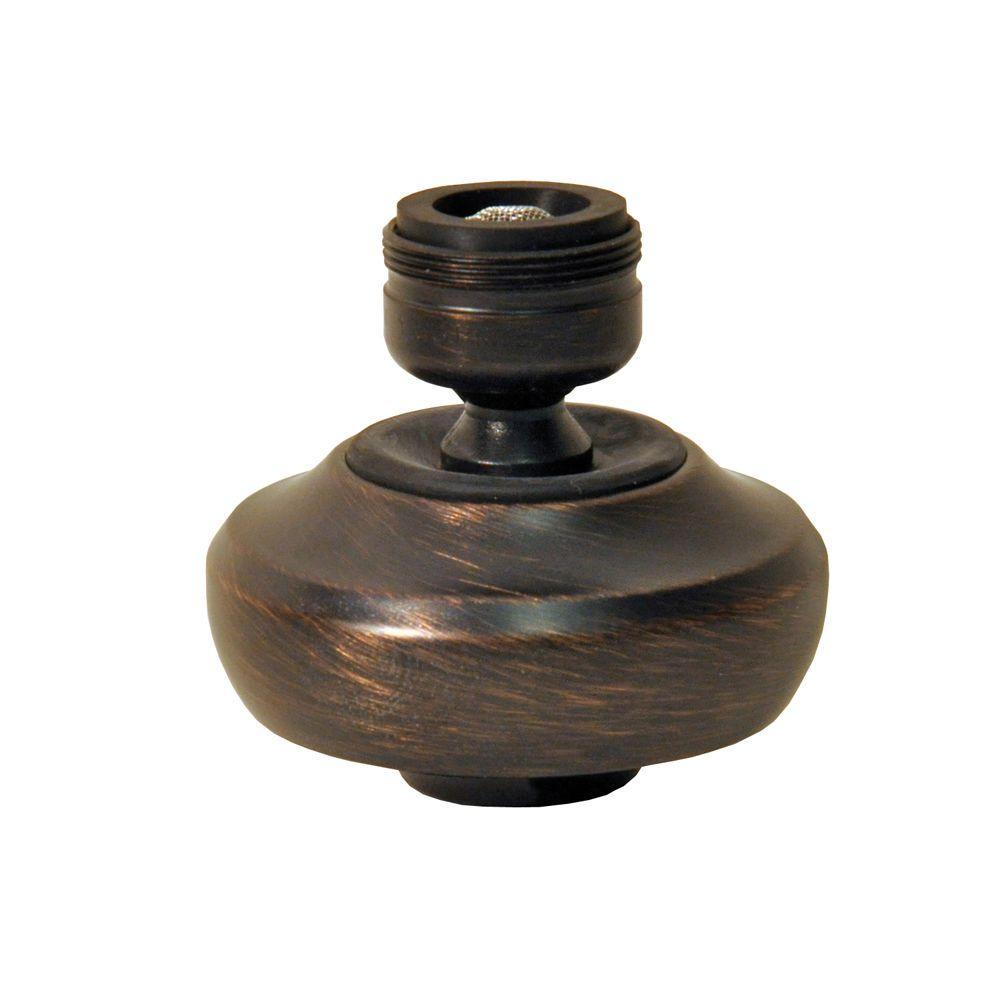 15/16 in. -27M x 55/64 in. -27F 1.5 GPM Oil Rubbed Bronze Dual Thread Premium Swivel Water-Saving Sprayrator
