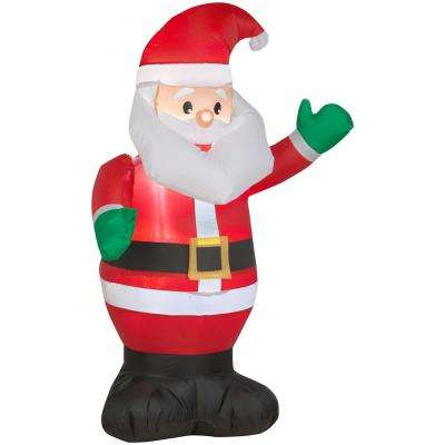 3.51 ft. Pre-lit Inflatable Santa Airblown