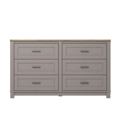 Viola Gray/Light Brown 6-Drawer Dresser