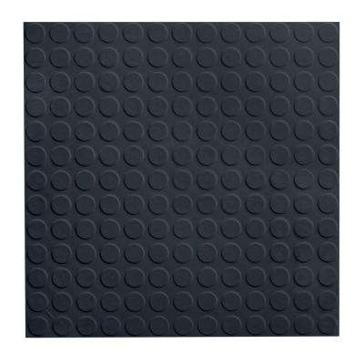 Low Profile Circular Design 19 69 In X Black Rubber Tile