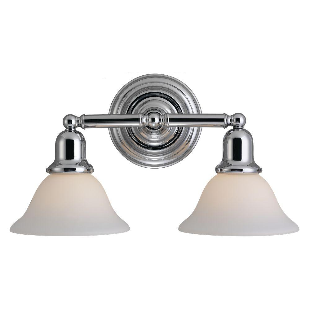 Sea Gull Lighting Sussex 2 Light Chrome Vanity Fixture