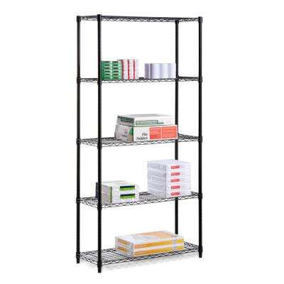 18 in. x 36 in. x 72 in. 350 lbs. 5-Tier Wire Shelves